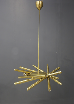 Chandelier in style Mid Century in Brass with spokes 2020s - 1517025