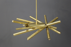 Chandelier in style Mid Century in Brass with spokes 2020s - 1517027