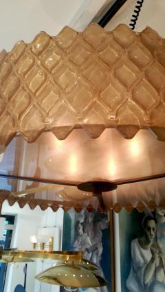Chandelier with Golden Murano Parts Around - 1090303
