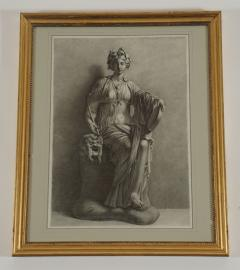 Charcoal on Paper Drawing of the Muse Thalia - 791746