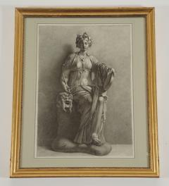 Charcoal on Paper Drawing of the Muse Thalia - 791748