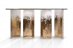 Charles Burnand Cloud Console Made from Hand Silvered Murano Glass - 1462713