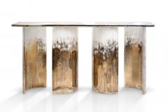 Charles Burnand Cloud Console Made from Hand Silvered Murano Glass - 1462714