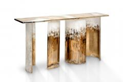 Charles Burnand Cloud Console Made from Hand Silvered Murano Glass - 1462716