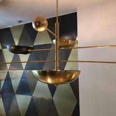 Charles Burnand Contrapesi Midcentury Style Brass and Powder Coated Cup Pendant - 1465341