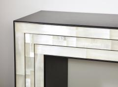 Charles Burnand Gypsum Inlaid with Nickel Detail Console Table Designed by Drake Anderson - 1487427