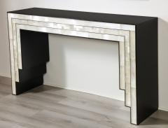 Charles Burnand Gypsum Inlaid with Nickel Detail Console Table Designed by Drake Anderson - 1487429