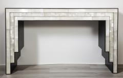 Charles Burnand Gypsum Inlaid with Nickel Detail Console Table Designed by Drake Anderson - 1487430
