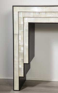 Charles Burnand Gypsum Inlaid with Nickel Detail Console Table Designed by Drake Anderson - 1487431