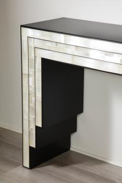 Charles Burnand Gypsum Inlaid with Nickel Detail Console Table Designed by Drake Anderson - 1487433