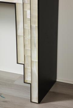 Charles Burnand Gypsum Inlaid with Nickel Detail Console Table Designed by Drake Anderson - 1487442