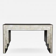 Charles Burnand Gypsum Inlaid with Nickel Detail Console Table Designed by Drake Anderson - 1487464