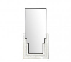 Charles Burnand Gypsum Inlaid with Nickel Detail Wall Mirror Designed by Drake Anderson - 1141901