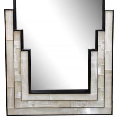 Charles Burnand Gypsum Inlaid with Nickel Detail Wall Mirror Designed by Drake Anderson - 1487388
