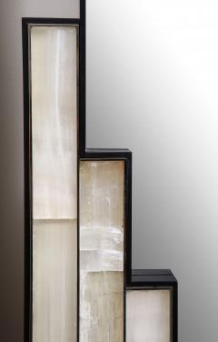 Charles Burnand Gypsum Inlaid with Nickel Detail Wall Mirror Designed by Drake Anderson - 1487390
