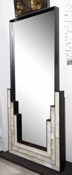 Charles Burnand Gypsum Inlaid with Nickel Detail Wall Mirror Designed by Drake Anderson - 1487391