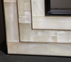 Charles Burnand Gypsum Inlaid with Nickel Detail Wall Mirror Designed by Drake Anderson - 1487395