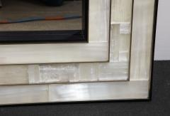 Charles Burnand Gypsum Inlaid with Nickel Detail Wall Mirror Designed by Drake Anderson - 1487397