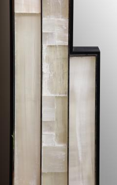 Charles Burnand Gypsum Inlaid with Nickel Detail Wall Mirror Designed by Drake Anderson - 1487398