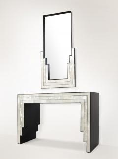 Charles Burnand Gypsum Inlaid with Nickel Detail Wall Mirror Designed by Drake Anderson - 1487400