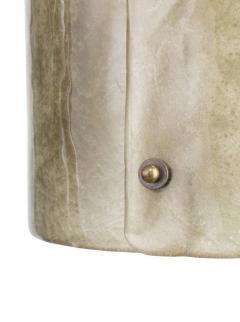 Charles Burnand Mezza Luna Pendant Drum in Murano Glass Brutalist Style - 1475086