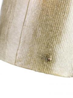 Charles Burnand Mezza Luna Pendant Drum in Murano Glass Brutalist Style - 1475088