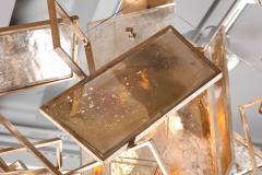 Charles Burnand Monumental Geometric Glass Paneled chandelier by Charles Burnand Nick Davis - 1325860
