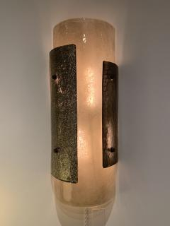 Charles Burnand Pair of Murano Glass Torcello Wall Sconces - 1615131