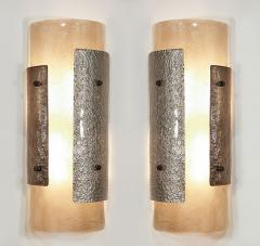 Charles Burnand Pair of Murano Glass Torcello Wall Sconces - 1615132