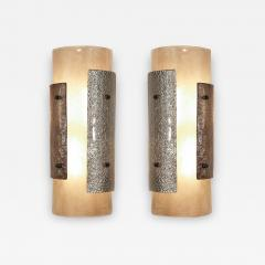 Charles Burnand Pair of Murano Glass Torcello Wall Sconces - 1618235