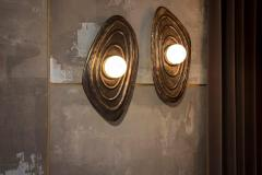 Charles Burnand Perla Wall Sconce in Cast Bronze with Alabaster Orb - 1455317
