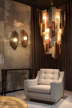 Charles Burnand Perla Wall Sconce in Cast Bronze with Alabaster Orb - 1455320