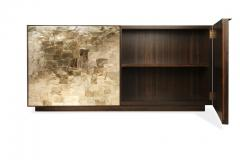 Charles Burnand Porchester Sideboard Smoked Eucalyptus Handcrafted Cabinet with Mica Inlay - 1455681