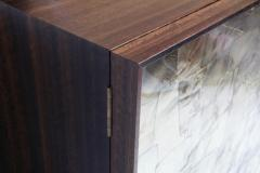 Charles Burnand Porchester Sideboard Smoked Eucalyptus Handcrafted Cabinet with Mica Inlay - 1455686