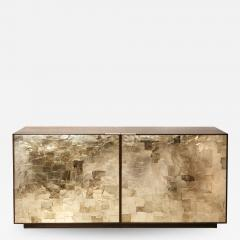 Charles Burnand Porchester Sideboard Smoked Eucalyptus Handcrafted Cabinet with Mica Inlay - 1487261