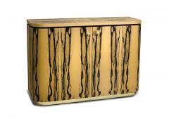 Charles Burnand Riccardo Sideboard in White Ebony Macassar Ebony and Brass - 1487734