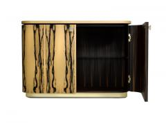 Charles Burnand Riccardo Sideboard in White Ebony Macassar Ebony and Brass - 1487735