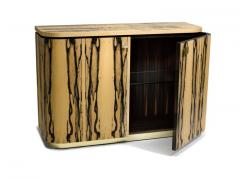 Charles Burnand Riccardo Sideboard in White Ebony Macassar Ebony and Brass - 1487737
