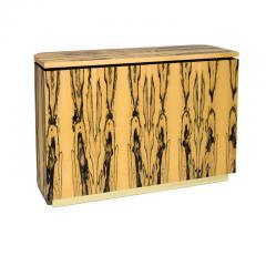 Charles Burnand Riccardo Sideboard in White Ebony Macassar Ebony and Brass - 1487744