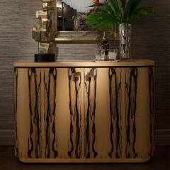 Charles Burnand Riccardo Sideboard in White Ebony Macassar Ebony and Brass - 1487747