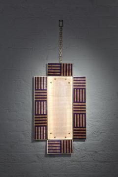Charles Burnand Ultra Violet Wall Sconce Handcrafted from Murano Glass and Straw Marquetry - 1487757
