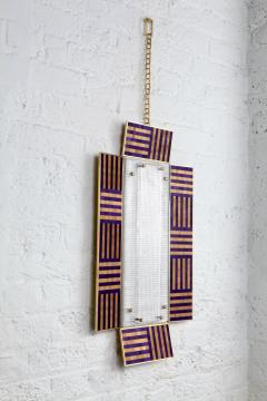 Charles Burnand Ultra Violet Wall Sconce Handcrafted from Murano Glass and Straw Marquetry - 1487759