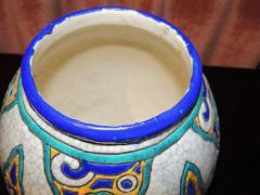 Charles Catteau Art Deco Vase by Charles Catteau for Boch Ceramics Atelier de Fantasie - 1352203