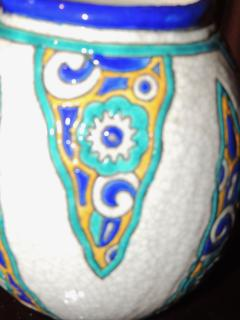 Charles Catteau Art Deco Vase by Charles Catteau for Boch Ceramics Atelier de Fantasie - 1352210