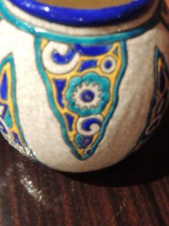 Charles Catteau Art Deco Vase by Charles Catteau for Boch Ceramics Atelier de Fantasie - 1352212
