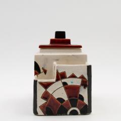 Charles Catteau Black and Brown Charles Catteau Keramis Boch Ceramic Art Deco Decorated Pot - 923351