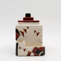 Charles Catteau Black and Brown Charles Catteau Keramis Boch Ceramic Art Deco Decorated Pot - 923352