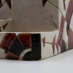 Charles Catteau Black and Brown Charles Catteau Keramis Boch Ceramic Art Deco Decorated Pot - 923360