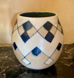 Charles Catteau Catteau Boch Freres Art Deco Geometric Stoneware Vase - 1369626