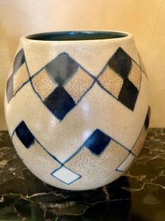 Charles Catteau Catteau Boch Freres Art Deco Geometric Stoneware Vase - 1369661